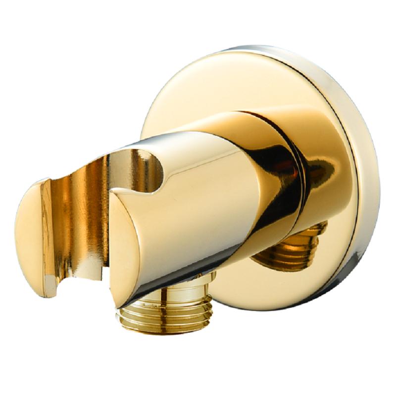 נקודת מים עגולה עם מתלה למזלף זהב מבריק
