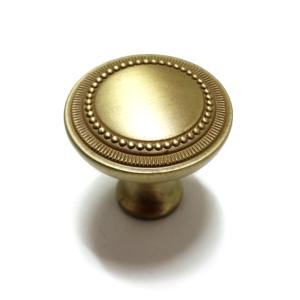 ידית כפתור לארונות דגם 3134 עגול זהב מט