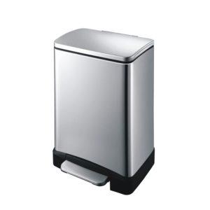 פח אשפה מלבני 30 ליטר מוברש סגירה שקטה