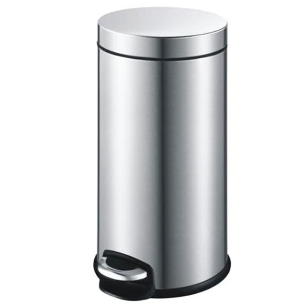פח אשפה עגול למטבח 30 ליטר ניקל מוברש JAVA טריקה שקטה