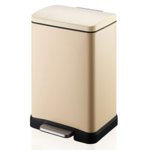 פח אשפה מלבני למטבח 30 ליטר שמנת סגירה שקטה