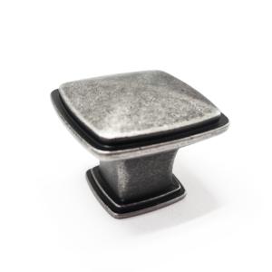 ידית כפתור מרובע דגם K-6028 כסף עתיק