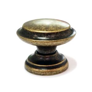 ידיות כפתור למגירות דגם 3131 עגול ברונזה פליז עתיק