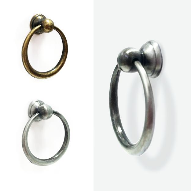 ידית כפתור טבעת לארון דגם 3110 פליז עתיק ברונזה