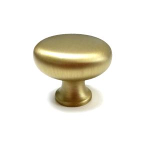 ידיות כפתור לארונות דגם 3129 עגול זהב מט