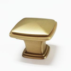 ידית כפתור מרובע דגם K-6028 זהב מט