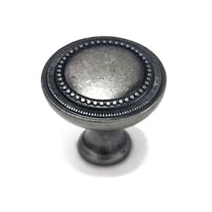 ידית כפתור לארונות דגם 3134 עגול כסף עתיק