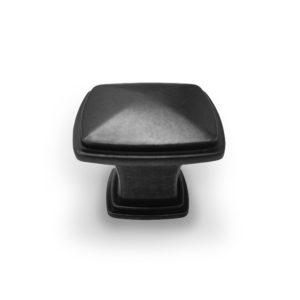 ידית כפתור מרובע דגם K-6028 שחור עתיק