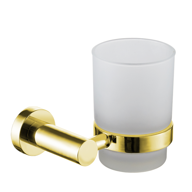 כוס למברשות שיניים תלויה VOLTA זהב מט