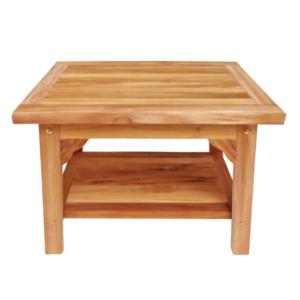 """ספסל עץ למקלחת מלבני 60 ס""""מ עץ טיק מלא"""