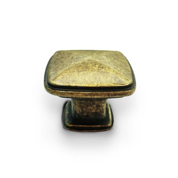 ידית כפתור מרובע דגם K-6028 פליז עתיק