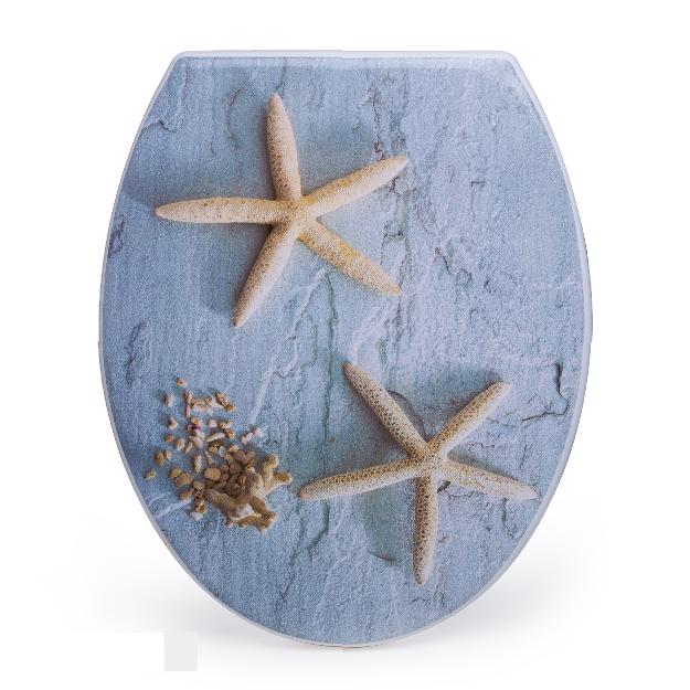 מושב אסלה מעוצב ציר נשלף דגם כוכב ים