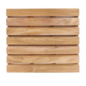 """משטח עץ מלא טיק 76 ס""""מ מרובע"""