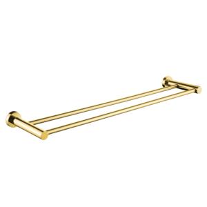 מוט מגבת כפול 45, 60, 80 ס״מ VOLTA זהב מט
