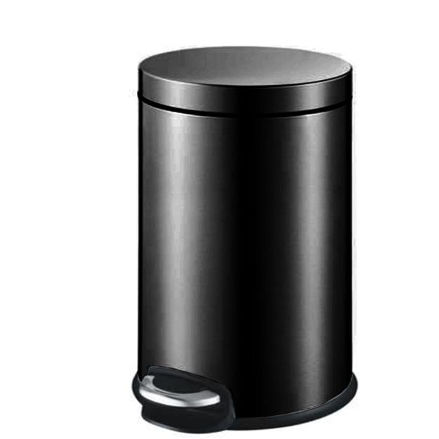 פח אשפה עגול 5 ליטר JAVA שחור טריקה שקטה