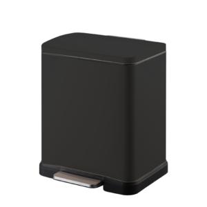 פח אשפה מלבני 20 ליטר שחור טריקה שקטה