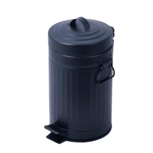 פח אשפה 20 ליטר רטרו עגול שחור סגירה שקטה