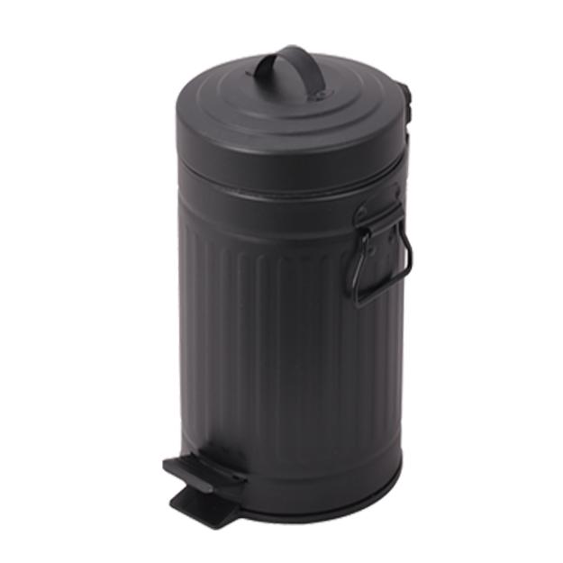 פח אשפה 30 ליטר רטרו עגול שחור סגירה שקטה