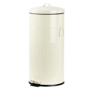 פח אשפה 30 ליטר רטרו עגול שמנת סגירה שקטה