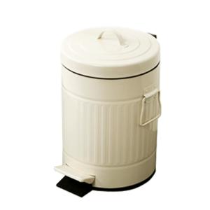 פח אשפה 20 ליטר רטרו עגול שמנת סגירה שקטה
