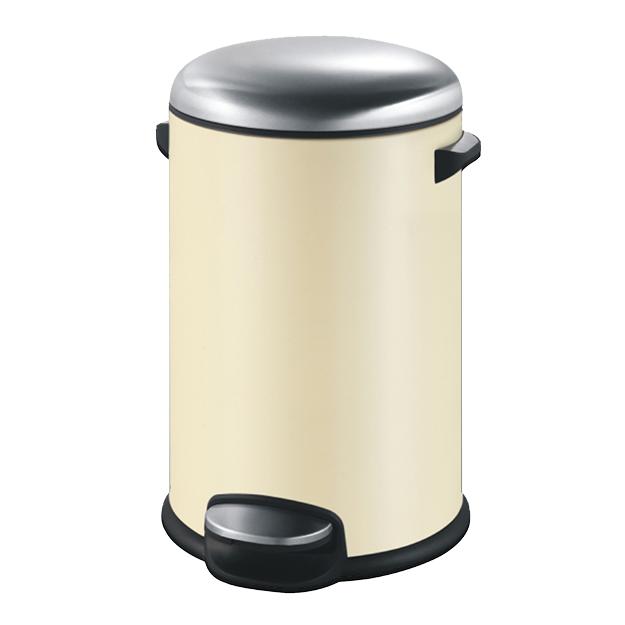 פח אשפה עגול 20 ליטר שמנת סגירה שקטה