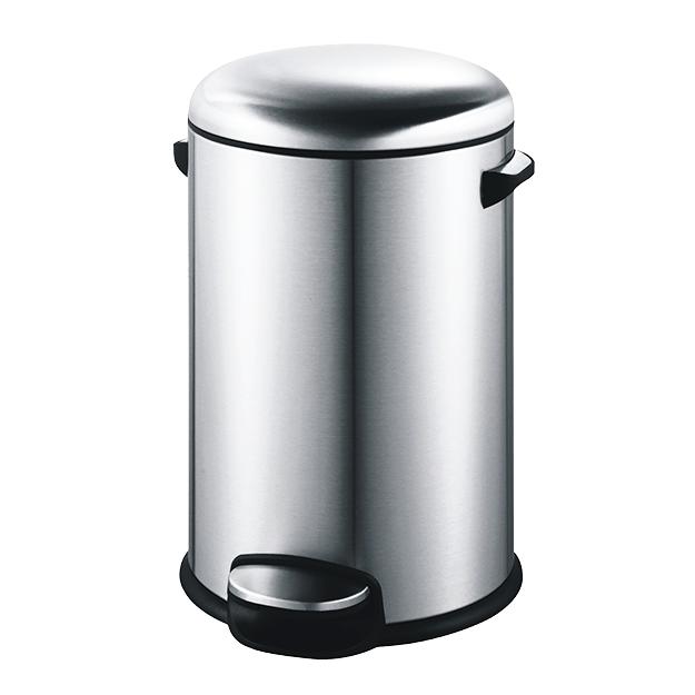פח אשפה עגול למטבח 20 ליטר מוברש סגירה שקטה