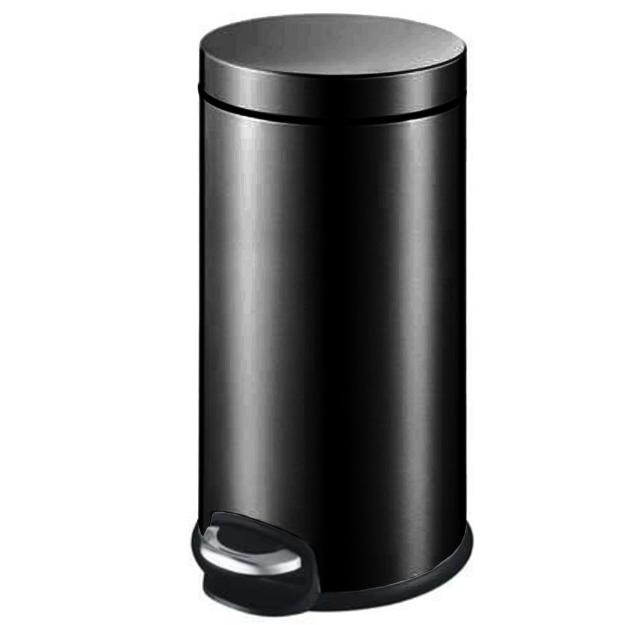 פח אשפה עגול למטבח 30 ליטר שחור מט JAVA טריקה שקטה