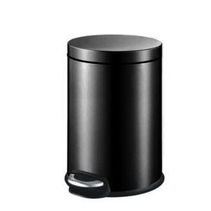 פח אשפה עגול 3 ליטר JAVA שחור טריקה שקטה