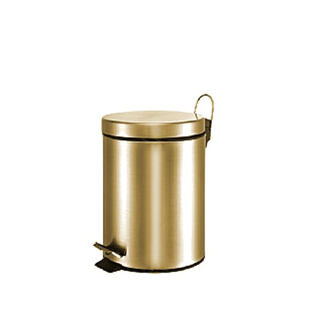 פח אשפה עגול 3 ליטר ברונזה סגירה שקטה