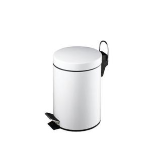 פח אשפה עגול 3 ליטר לאמבטיה לבן סגירה שקטה
