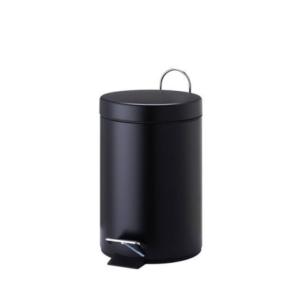 פח אשפה עגול 3 ליטר שחור מט סגירה שקטה
