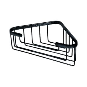 מדף רשת למקלחת פינתית גבוהה שחור מט R674BL