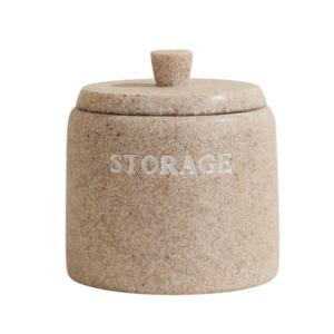 קופסה עגולה מונחת לצמר גפן CITY דמוי אבן