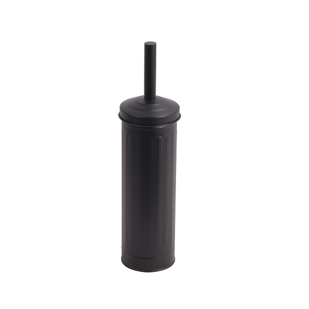 מברשת אסלה מונחת רטרו שחור מט