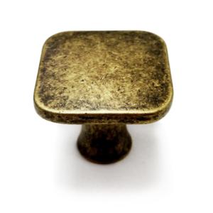 ידית כפתור לריהוט דגם 3130 מרובע ברונזה פליז עתיק