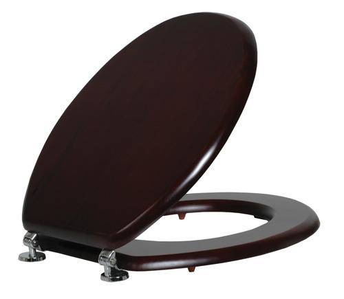 מושב אסלה עץ שחור