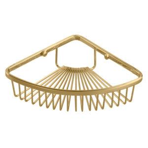 רשת מעוגלת פינתית לקיר מקלחת זהב מבריק R634GL
