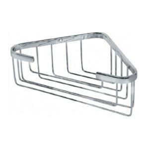 מדף רשת למקלחת פינתית גבוהה ניקל מבריק R674CP