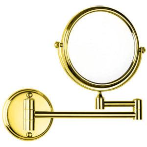 מראה מגדילה פי 7 לקיר דו צדדית זהב Z516GL