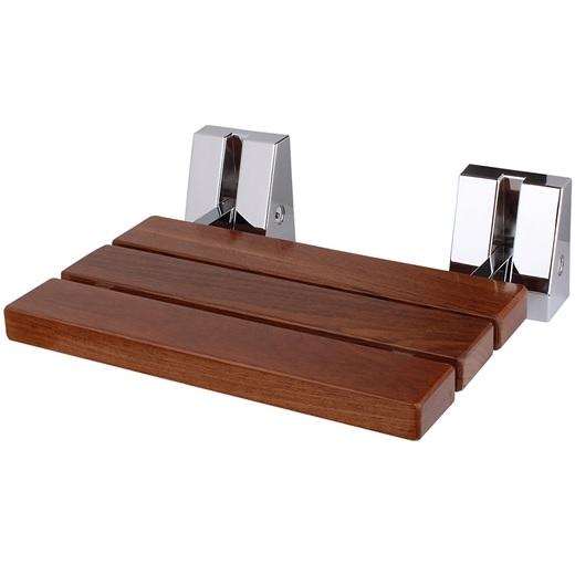 """כיסא מתקפל למקלחת 51 ס""""מ עץ טיק מלא"""
