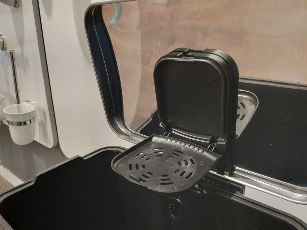 פח אשפה למטבח 45 ליטר מלבני שחור JAVA 3