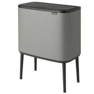 פח אשפה למטבח BRABANTIA אפור בטון מינרלי 36 ליטר Y127205