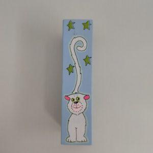 """ידית לארון ילדים חתול סגול K22 מ""""מ 96"""