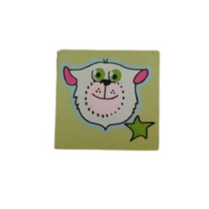 ידית כפתור לחדר ילדים חתול ירוק K14