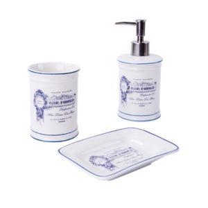 סט אביזרי אמבטיה מונחים SAVON כחול