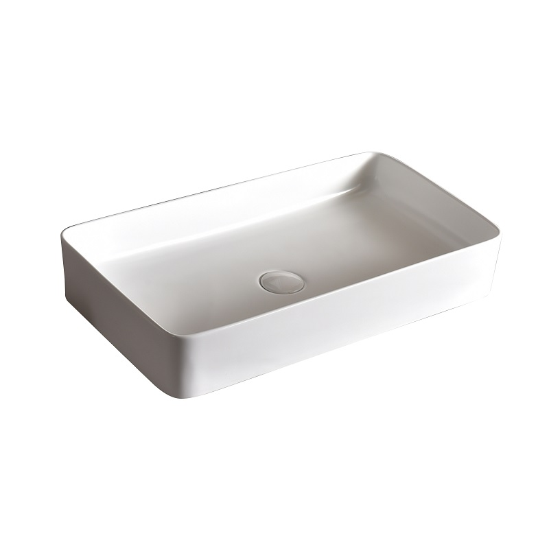 """כיור אמבטיה מונח לבן מלבני 60/35 ס""""מ"""
