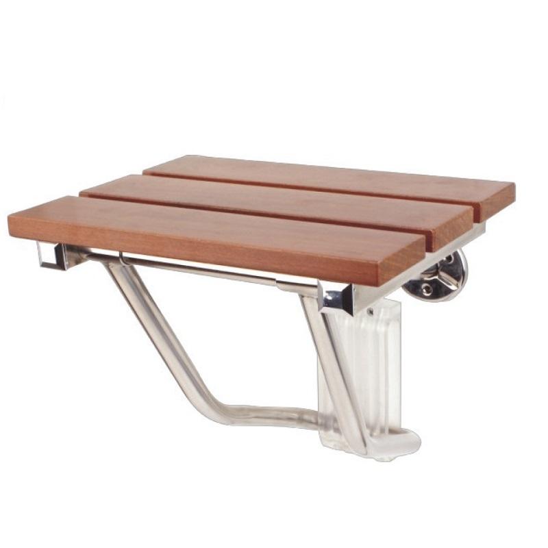 """כסא מתקפל למקלחת עץ טיק 38 ס""""מ רוחב"""