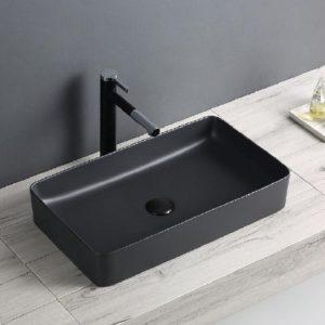 כיור אמבטיה מונח שחור מט 61/35