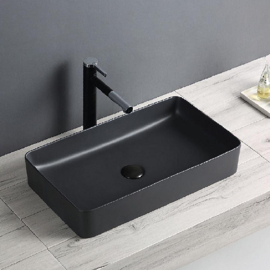 כיור אמבטיה מונח שחור מט 61/34