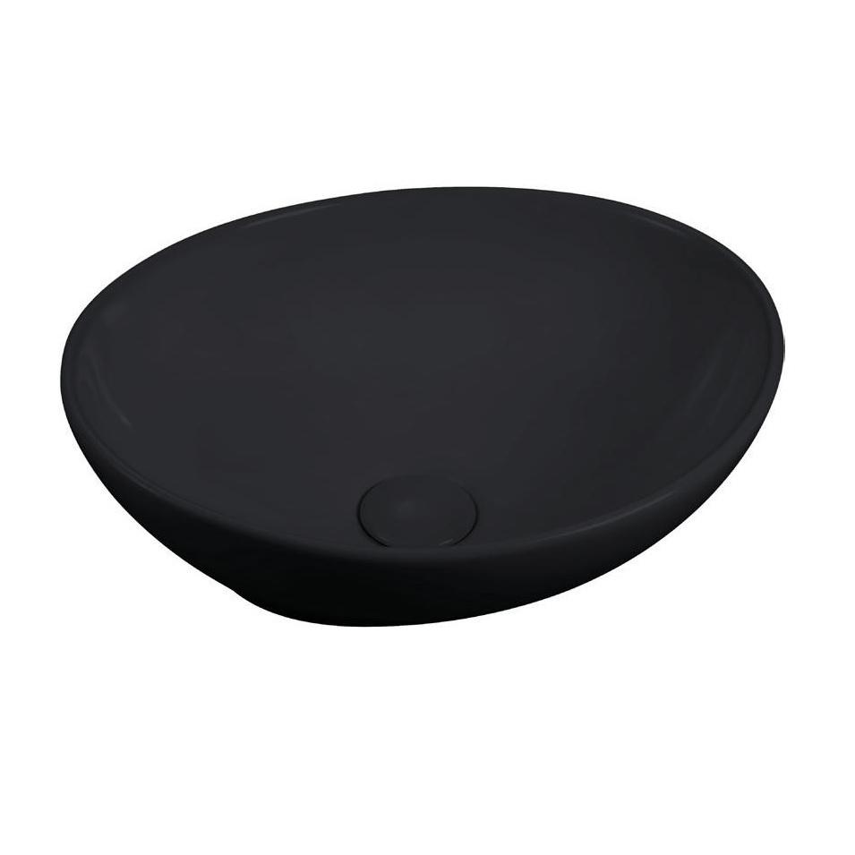 כיור אמבטיה מונח שחור מט 40/33